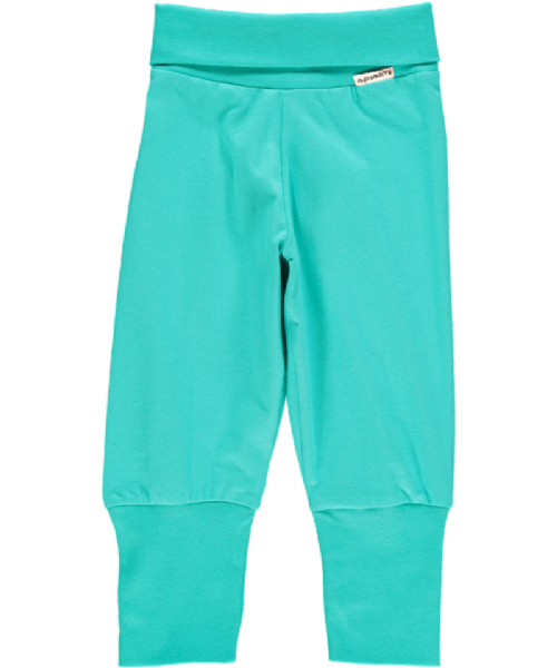 Maxomorra Rib Pants Basic Turquoise (up to 68cm)